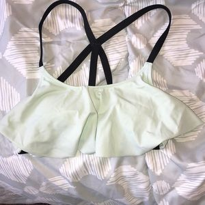 Pink Mint Strappy Back Bikini Top